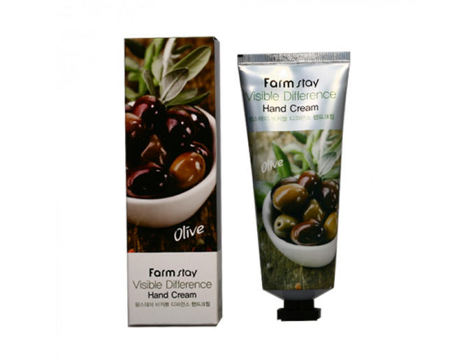 FarmStay Visible Difference Hand Cream Olive, 100g