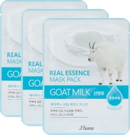 JLuna Real Essence Mask Pack Goat Milk, 25ml, 3 шт