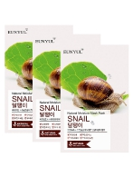 EUNYUL Natural Moisture Mask Pack Snail, 22ml, 3 шт